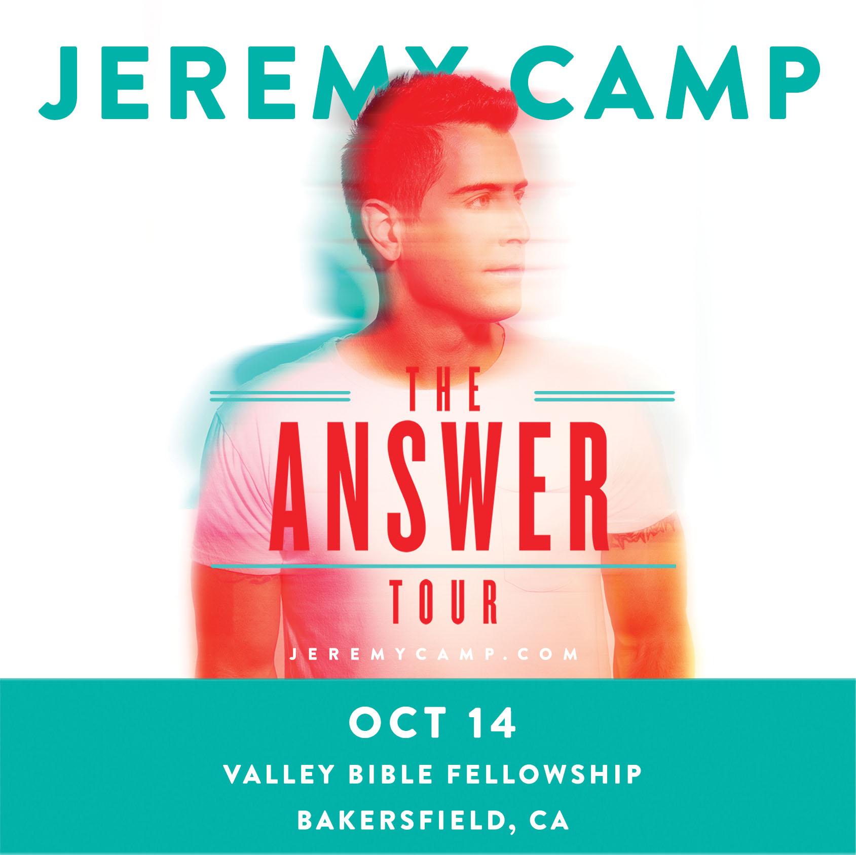 Jeremy Camp Concert Oct 14!